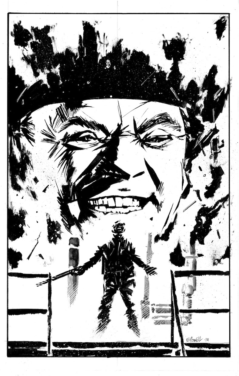 Illustration of James Cagney in White Heat