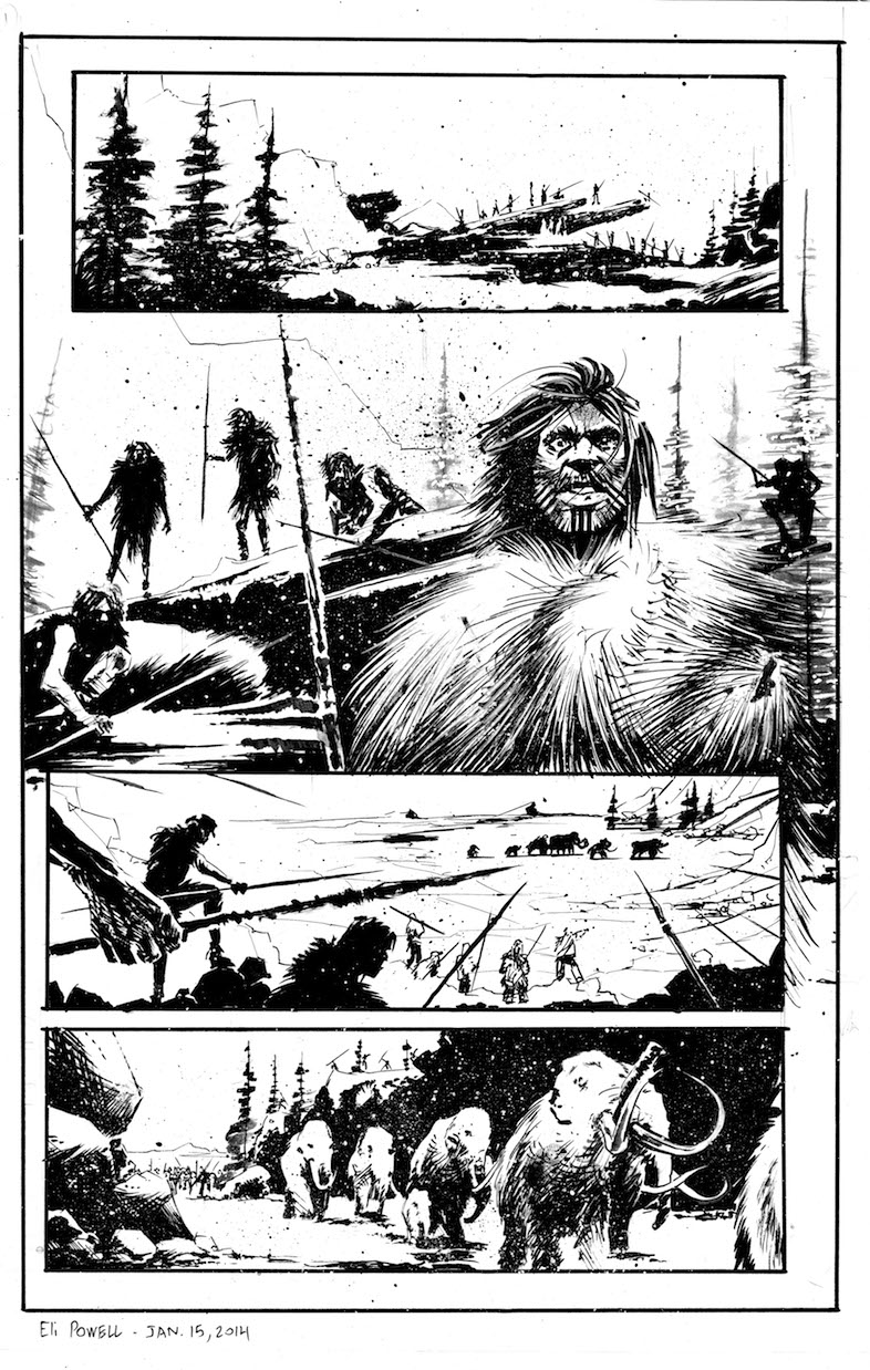 Still Hunter Page 1 (B&W)