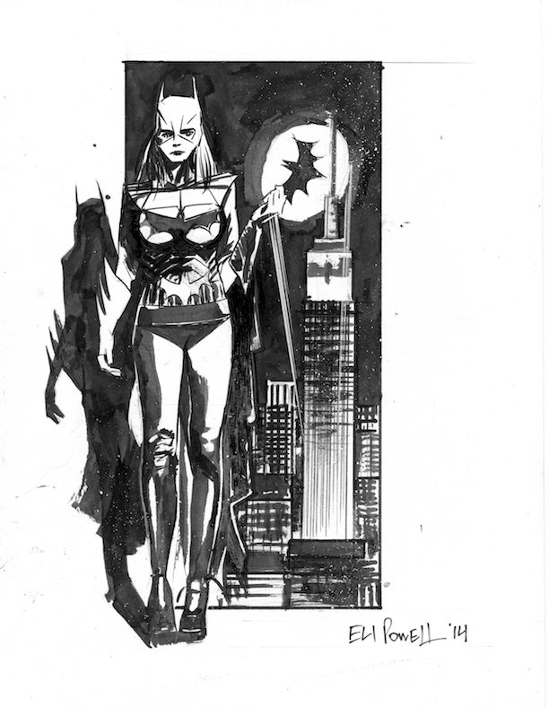 Batgirl Ink Sketch