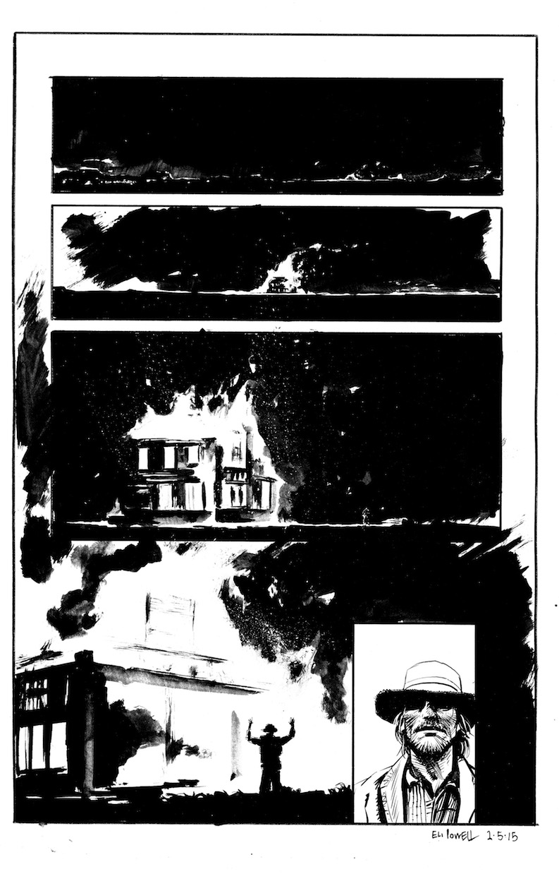 "Sequential Art for ""Fire"" Comic"