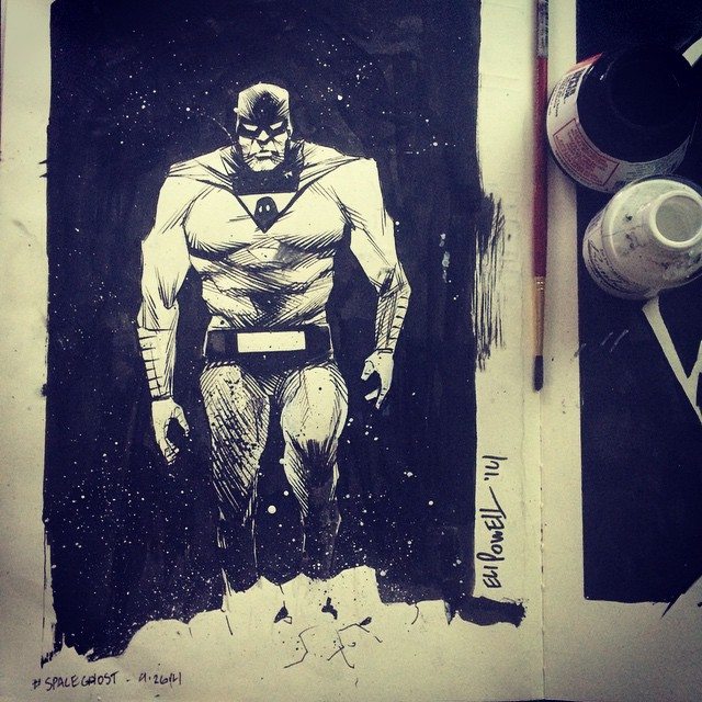 Space Ghost Sketch by Eli Powell