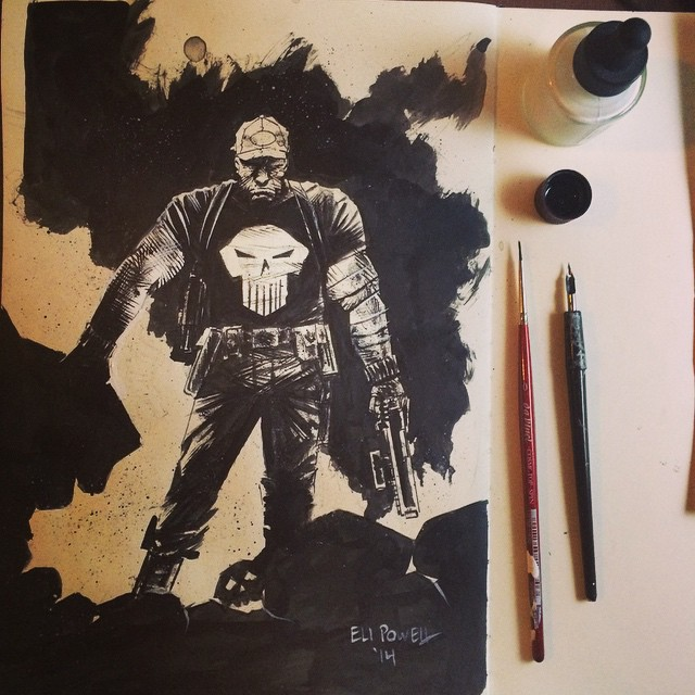 Punisher Sketch by Eli Powell
