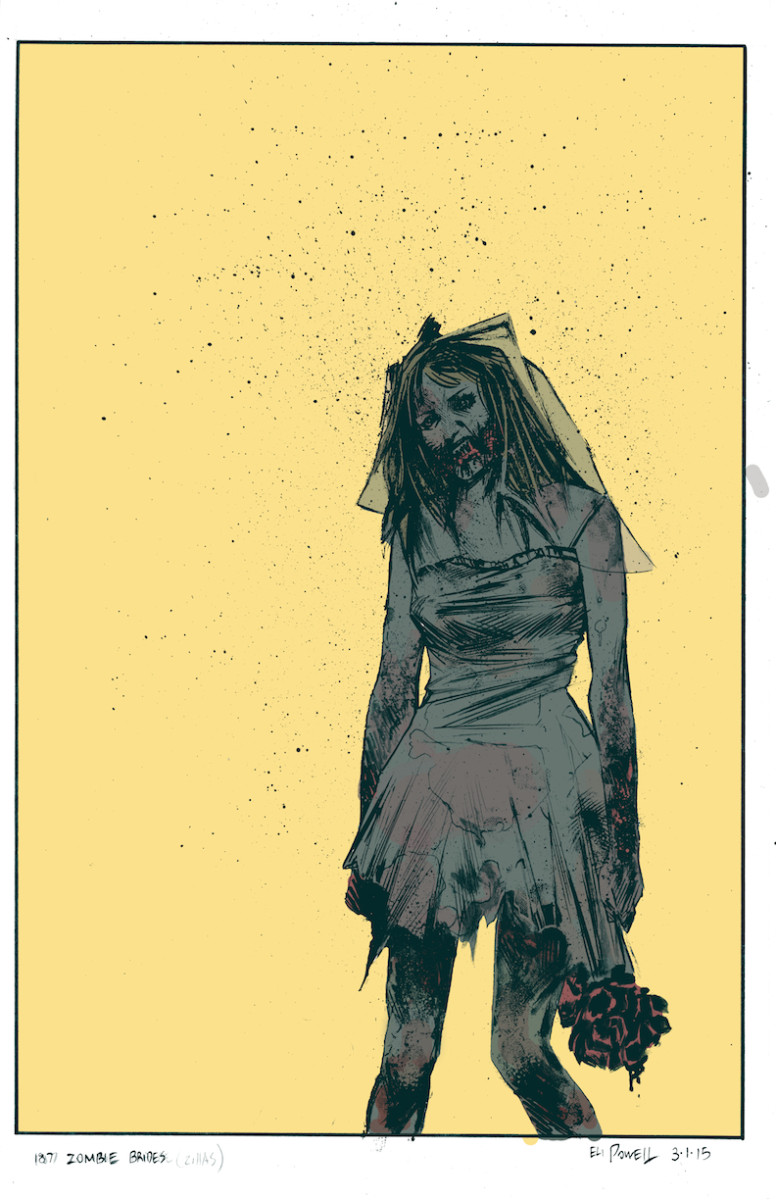 Zombie Bride Colored